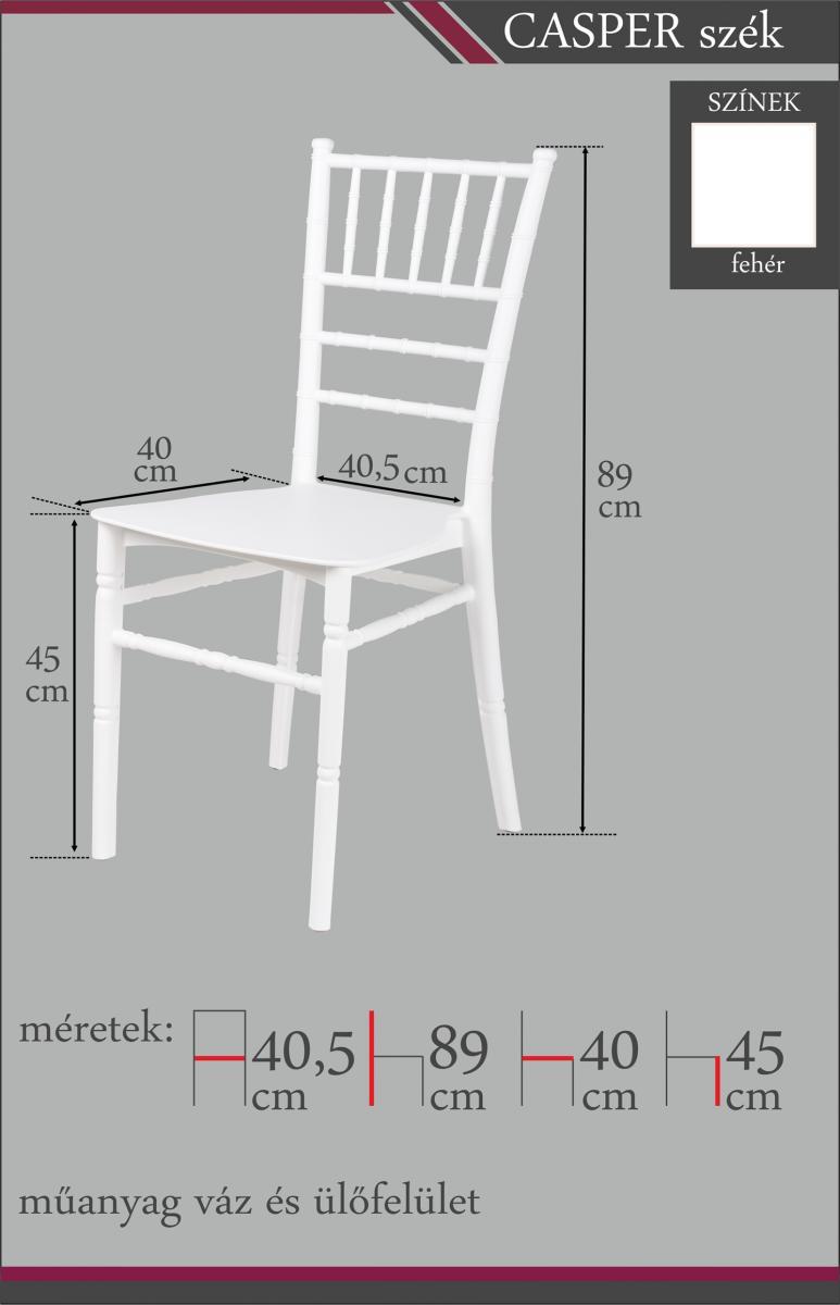 Fehér szék Casper Kikol bútor webáruház